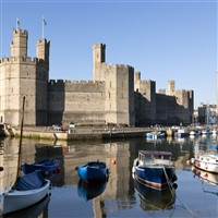 Overlooking the harbour to Caernarfon Castle