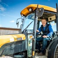 Adam in Safari Tractor